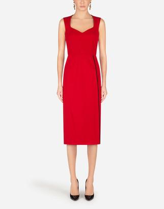 Dolce & Gabbana Heavy Stretch Jersey Calf-Length Dress