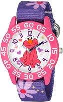 EWatchFactory Girl's 'Sesame Street' Quartz Plastic and Nylon Automatic Watch, Color:Purple (Model: W003207)