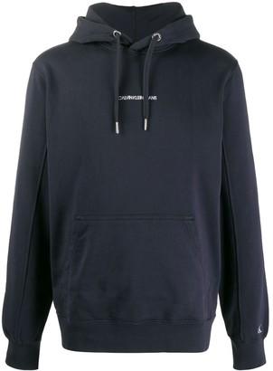 Calvin Klein Jeans Logo-Embroidered Hooded Sweatshirt