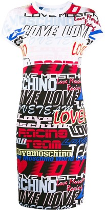 Love Moschino logo print bodycon T-shirt dress