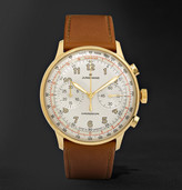Junghans - Meister Telemeter Chronoscope 40mm Gold-tone And Leather Watch