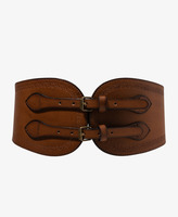 Forever 21 Stamped Faux Leather Waist Belt