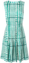 Oscar de la Renta tiered belted dress