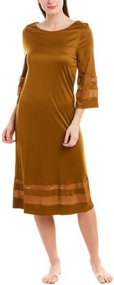 Hanro 3/4-Sleeve Silk-Blend Gown