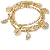 Kenneth Cole New York Gold-Tone 4-Pc. Set Pavé Charm Bangle Bracelets