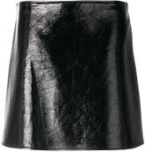 Courreges short textured skirt