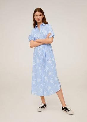 MANGO Midi shirt dress china blue - 4 - Women