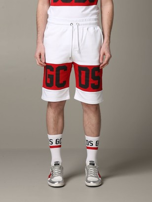 GCDS Short Jogging Shorts With Contrasting Band And Logo