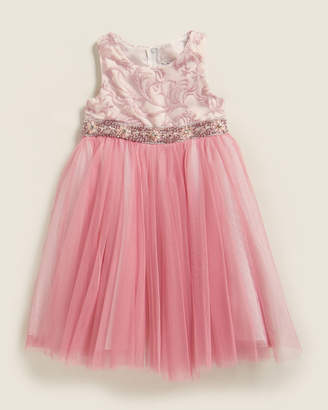Rare Editions Toddler Girls) Pink Embroidered Tulle Dress