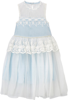 Blue Lace A-Line Dress - Toddler