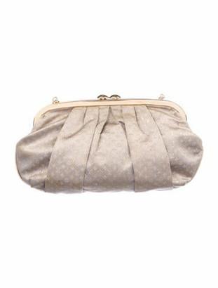 Louis Vuitton Monogram Satin Aumoniere Evening Bag Grey
