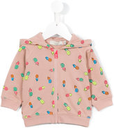 Stella McCartney pineapple print hoodie - kids - Cotton - 3 mth