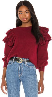 1 STATE Ruffle Sleeve Sweater