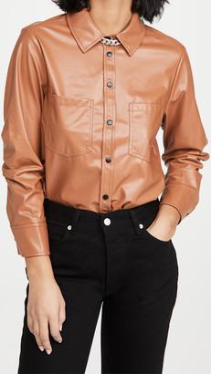 JONATHAN SIMKHAI STANDARD Ryder Pleated Sleeve Shirt