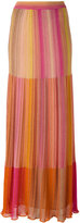 M Missoni long metallic knit stripe skirt