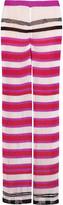 Missoni Metallic ribbed crochet-knit wide-leg pants