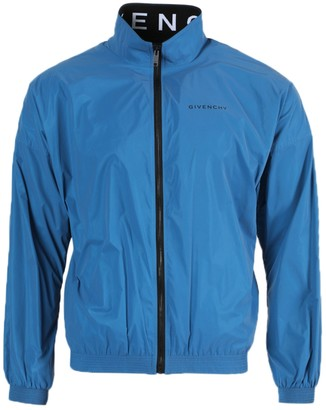 Givenchy Blue Logo Windbreaker Jacket