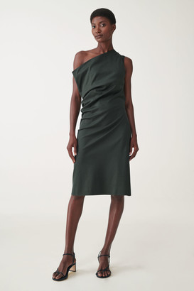 Cos One-Shoulder Organic Cotton Dress