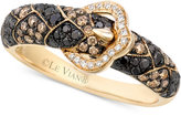 LeVian Le Vian Exotics® Diamond Buckle Ring (3/4 ct. t.w.) in 14k Gold