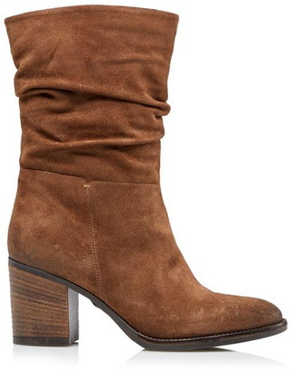Dune London Rosa Slouch Heeled Calf Boots
