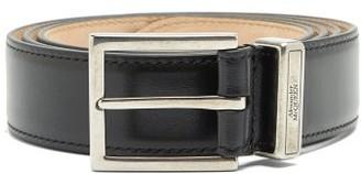 Alexander McQueen Identity Leather Belt - Black