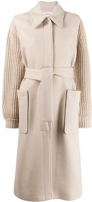 BA&SH Calas knit sleeve coat