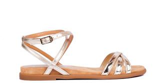 Unisa Cecilio Gold Metallic Sandals - 38/ UK 5 | leather | gold - Gold/Gold