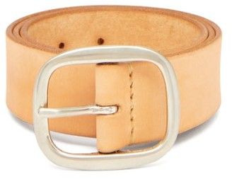 BEIGE Maximum Henry - Wide Patinated-leather Belt - Mens