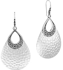John Hardy Sterling Silver Classic Chain Hammered Drop Earrings