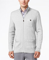 Tasso Elba Men's Soft Touch Zip-Front Cardigan, Only at Macy's