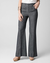 Le Château Crosshatch Denim Wide Leg Pant