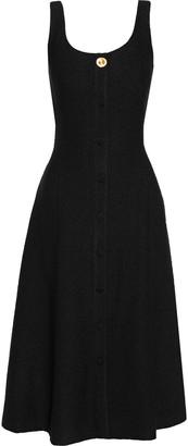 Adam Lippes Button-embellished Boucle Midi Dress