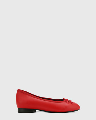 Wittner - Women's Red Ballet Flats - Aroma Leather Ballet Flats - Size One Size, 37 at The Iconic