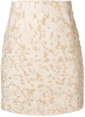 Noon By Noor Scout embroidered mini skirt