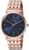 DKNY Women's 36mm Rose Gold-Tone Steel Bracelet & Case Quartz Watch Ny2611