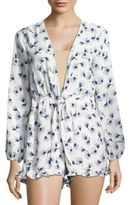 Lucca Couture Tie Front Romper