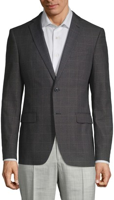 John Varvatos Slim Fit Plaid Cotton Sportcoat