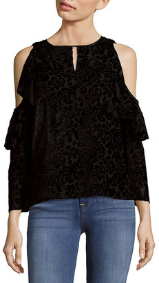 Nanette Lepore Cascade Cold Shoulder Top