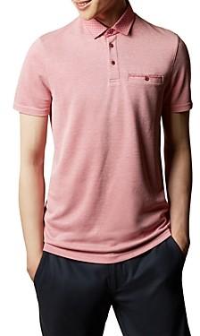Ted Baker Jetoff Woven-Collar Polo Shirt