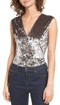 Willow & Clay Women's Velvet Burnout Bodysuit
