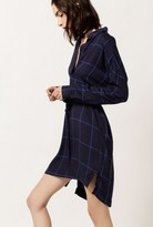 Azalea Plaid Tie-Waist Shirt Dress