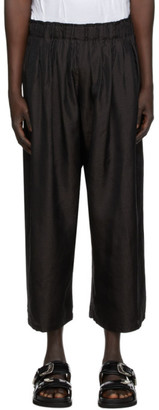 SASQUATCHfabrix. Black Taco Karakusa Flare Trousers