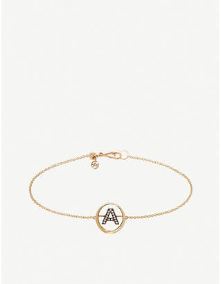 Annoushka 18ct yellow gold and diamond Initial A bracelet