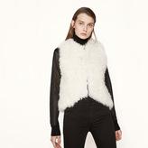 Maje Sleeveless fur jacket