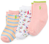 Ralph Lauren Striped & Floral Sock 3-Pack