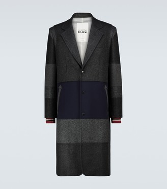 Valentino Patchwork wool-blend coat