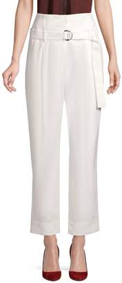 Brunello Cucinelli Cotton & Linen Blend Ankle Pants