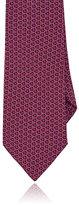 Barneys New York Men's Geometric-Pattern Silk Satin Necktie-RED