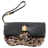 Marc Jacobs Black Leather Clutch bag