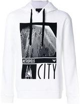 Emporio Armani metropolis print hoodie